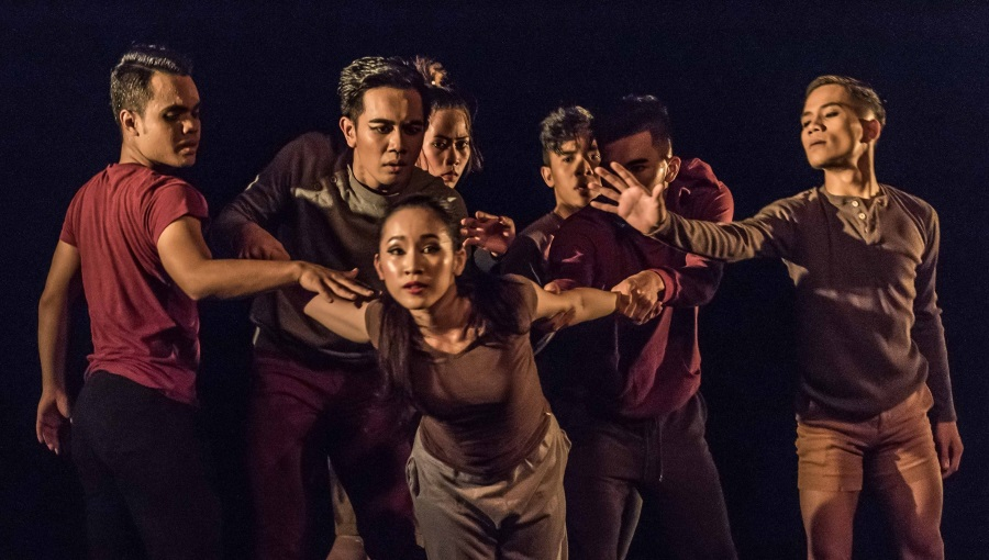 Kimberly Yap, centre, in James Kan's 'Utopia'. Photo: Huneid Tyeb.