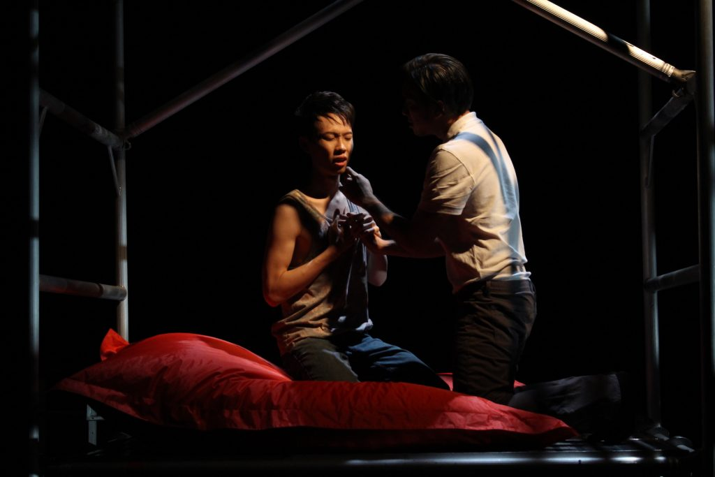 Daniel (Dennis Yeap) and Oscar (Alfred Loh) in A Language of Their Own