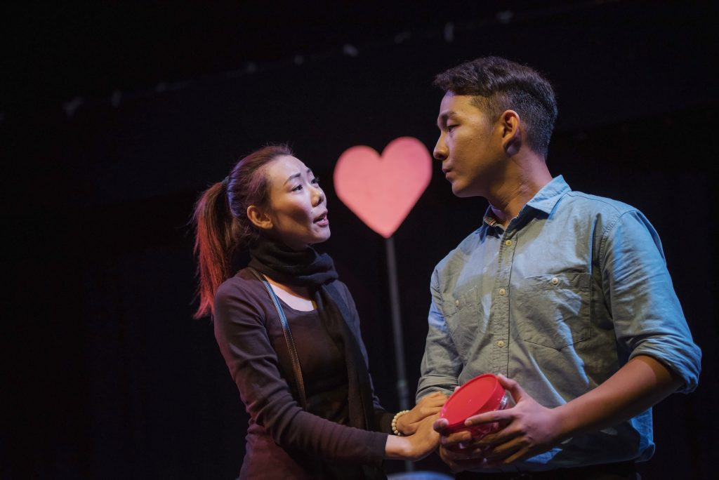 """The Swing - Foo Yong Soon and Lee Jia Shyun (Jess) in """"The Swing"""" directed by Alvie Cheng, photo credit to Sherwynd Rylan Kessler"""