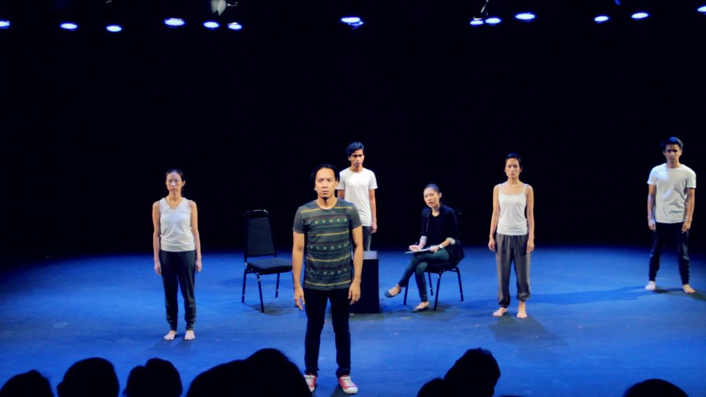 The full cast of Remedy at DPAC standing on stage, facing the audience
