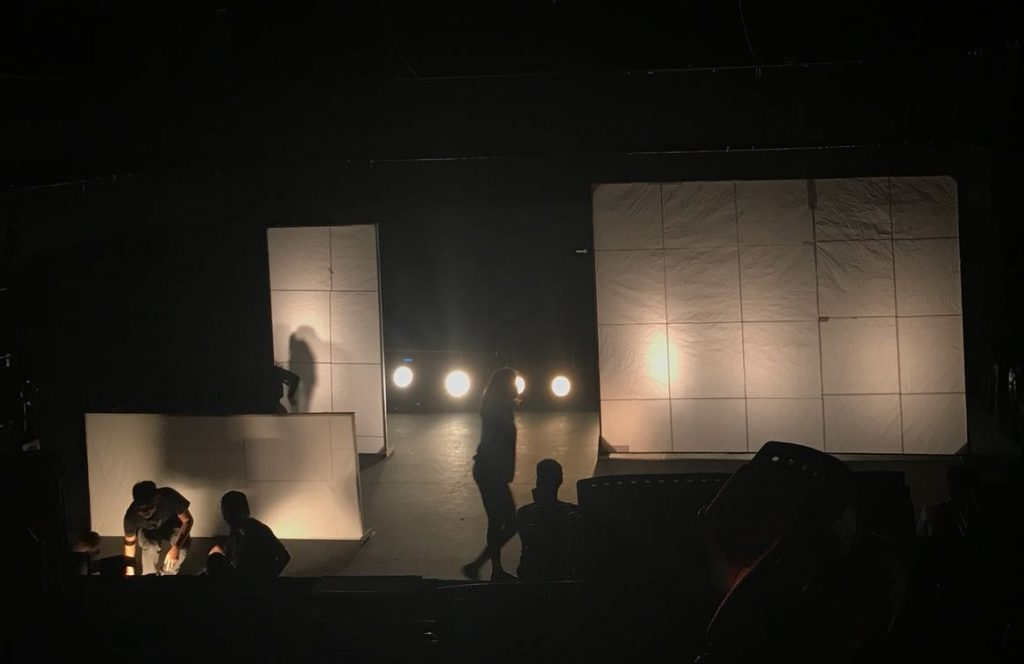 Stage setup, photo from dress rehearsal.