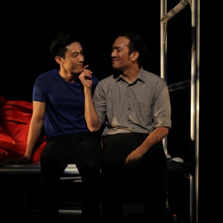 Ming (Jayson Phuah) and Oscar (Alfred Loh) in A Language of Their Own